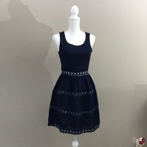 Doe & Rae Navy fit and flare dress